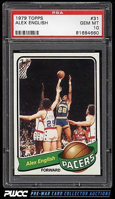 1979 Topps Basketball Alex English ROOKIE RC 31 PSA 10 GEM MINT PWCC