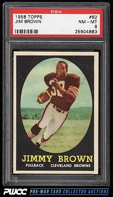 1958 Topps Football Jim Brown ROOKIE RC 62 PSA 8 NMMT PWCC