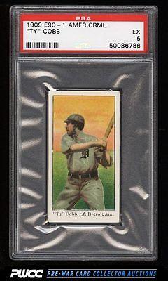 190911 E901 American Caramel Ty Cobb PSA 5 EX PWCC