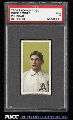 190911 T206 Chief Bender PORTRAIT PSA 7 NRMT PWCC