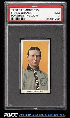 190911 T206 Frank Chance YELLOW PORTRAIT PSA 7 NRMT PWCC