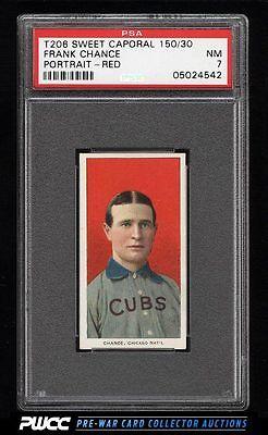190911 T206 Frank Chance RED PORTRAIT PSA 7 NRMT PWCC