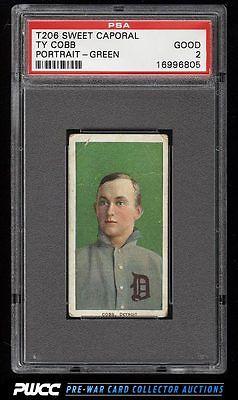 190911 T206 Ty Cobb GREEN PORTRAIT PSA 2 GD PWCC