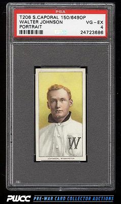 190911 T206 Walter Johnson PORTRAIT PSA 4 VGEX PWCC