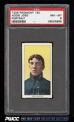 190911 T206 Addie Joss PORTRAIT PSA 8 NMMT PWCC