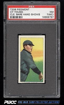 190911 T206 Cy Young CLEVELAND BARE HAND SHOWS PSA 7mc NRMT PWCC