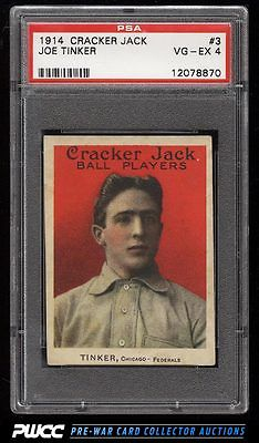 1914 Cracker Jack Joe Tinker 3 PSA 4 VGEX PWCC