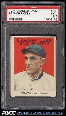 1914 Cracker Jack Branch Rickey 133 PSA 55 EX PWCC