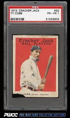1915 Cracker Jack Ty Cobb 30 PSA 1 PR PWCC