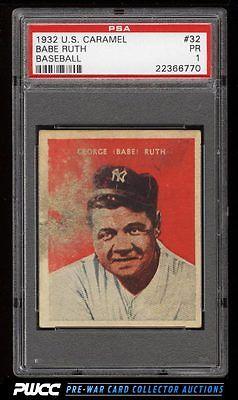 1932 US Caramel Babe Ruth 32 PSA 1 PR PWCC