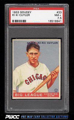 1933 Goudey Ki Ki Cuyler 23 PSA 75 NRMT PWCC