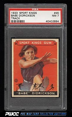 1933 Goudey Sport Kings Babe Didrickson TRACK 45 PSA 7 NRMT PWCC