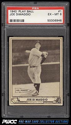1940 Play Ball Joe DiMaggio 1 PSA 6 EXMT PWCC