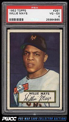 1952 Topps Willie Mays 261 PSA 4 VGEX PWCC