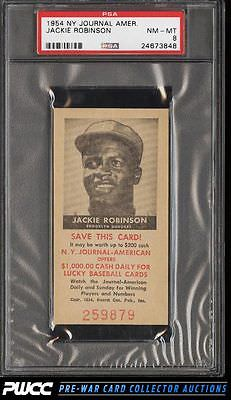 1954 NY Journal American Jackie Robinson PSA 8 NMMT PWCC