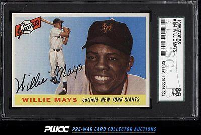 1955 Topps Willie Mays 194 SGC 7586 NRMT PWCC