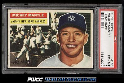 1956 Topps Mickey Mantle 135 PSA 6 EXMT PWCC