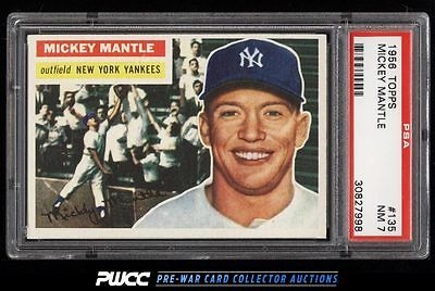 1956 Topps Mickey Mantle 135 PSA 7 NRMT PWCC