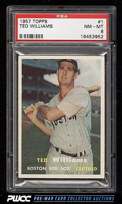 1957 Topps Ted Williams 1 PSA 8 NMMT PWCC