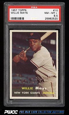 1957 Topps Willie Mays 10 PSA 85 NMMT PWCC