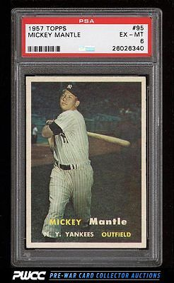 1957 Topps Mickey Mantle 95 PSA 6 EXMT PWCC