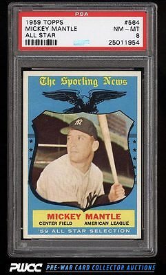 1959 Topps Mickey Mantle ALLSTAR 564 PSA 8 NMMT PWCC