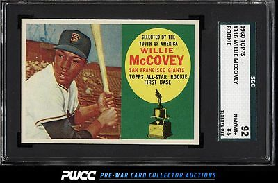 1960 Topps Willie McCovey ROOKIE RC 316 SGC 8592 NMMT PWCC