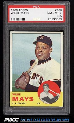 1963 Topps Willie Mays 300 PSA 85 NMMT PWCC