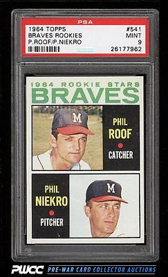 1964 Topps Phil Niekro ROOKIE RC 541 PSA 9 MINT PWCC