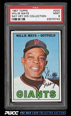 1967 Topps Willie Mays 200 PSA 9 MINT PWCC