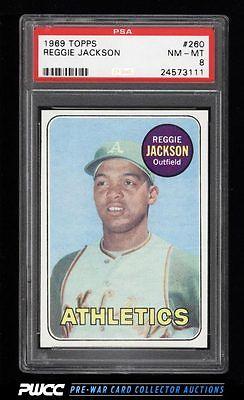 1969 Topps Reggie Jackson ROOKIE RC 260 PSA 8 NMMT PWCC