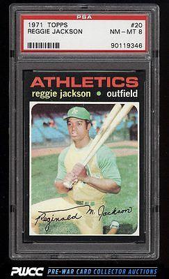 1971 Topps Reggie Jackson 20 PSA 8 NMMT PWCC