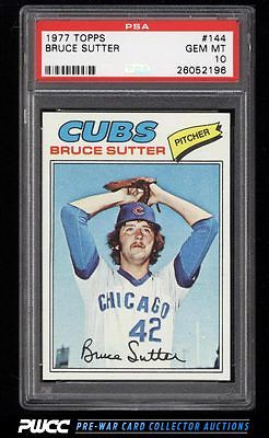 1977 Topps Bruce Sutter ROOKIE RC 144 PSA 10 GEM MINT PWCC