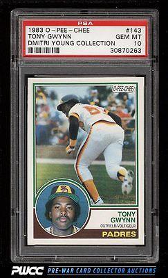 1983 OPeeChee Tony Gwynn ROOKIE RC 143 PSA 10 GEM MINT PWCC