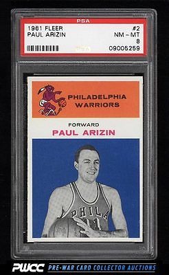 1961 Fleer Basketball Paul Arizin 2 PSA 8 NMMT PWCC