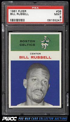1961 Fleer Basketball Bill Russell 38 PSA 9 MINT PWCC