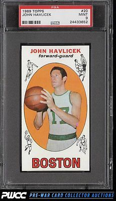 1969 Topps Basketball John Havlicek ROOKIE RC 20 PSA 9 MINT PWCC