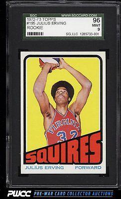 1972 Topps Basketball Julius Erving ROOKIE RC 195 SGC 996 MINT PWCC