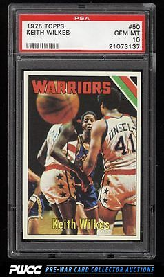 1975 Topps Basketball Keith Wilkes ROOKIE RC 50 PSA 10 GEM MINT PWCC
