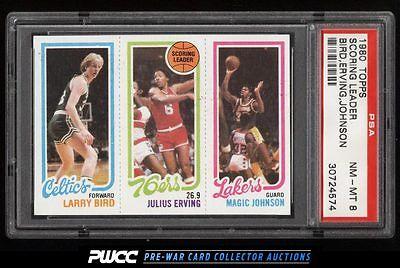 1980 Topps Basketball Larry Bird  Magic Johnson ROOKIE RC PSA 8 NMMT PWCC