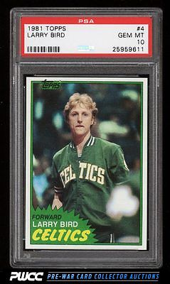 1981 Topps Basketball Larry Bird 4 PSA 10 GEM MINT PWCC