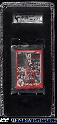 198485 Star BBall Bulls Team Bag Michael Jordan ROOKIE RC 101 GAI 85 PWCC