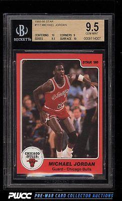 198586 Star Basketball Michael Jordan ROOKIE RC 117 BGS 95 GEM MINT PWCC