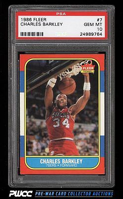 1986 Fleer Basketball SETBREAK Charles Barkley ROOKIE RC 7 PSA 10 GEM MT PWCC