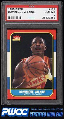 1986 Fleer Basketball SETBREAK Dominique Wilkins ROOKIE RC 121 PSA 10 PWCCHE