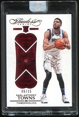 KARLANTHONY TOWNS RC 201516 Flawless ROOKIE Gem Diamond RUBY 0615