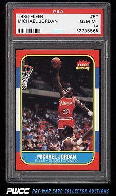 1986 Fleer Basketball Michael Jordan ROOKIE RC 57 PSA 10 GEM MINT PWCC