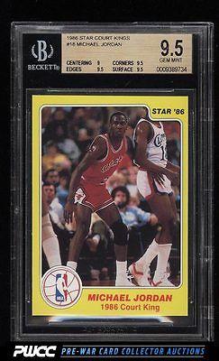 1986 Star Court Kings Michael Jordan ROOKIE RC 18 BGS 95 GEM MINT PWCC