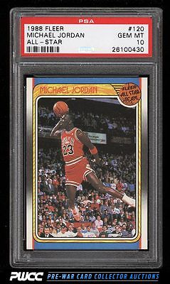 1988 Fleer AllStar Basketball Michael Jordan 120 PSA 10 GEM MINT PWCC