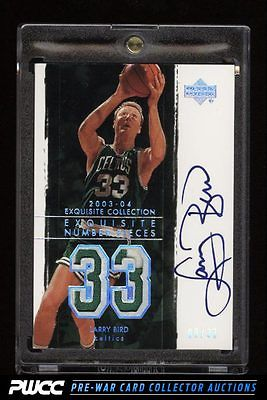 2003 Exquisite Collection Number Pieces Larry Bird AUTO PATCH 33 LB PWCC